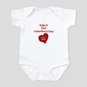 1st Valentines I Love Nana Infant Creeper