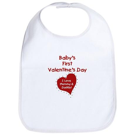 1st Valentine Mommy & Daddy Bib