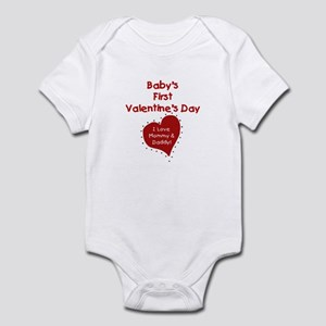 1st Valentine Mommy & Daddy Infant Creeper