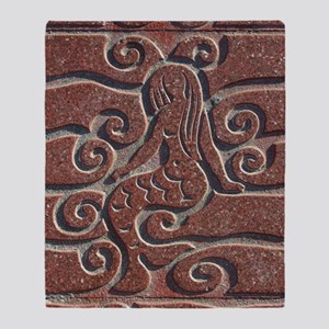 Terra Cota Tile Art Realism  Throw Blanket