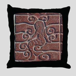 Terra Cota Tile Art Realism  Throw Pillow