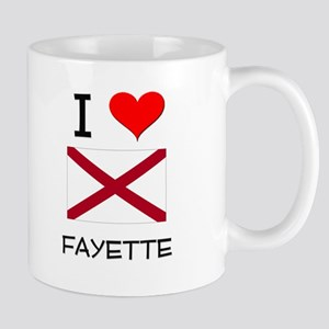 I Love Fayette Alabama Mugs