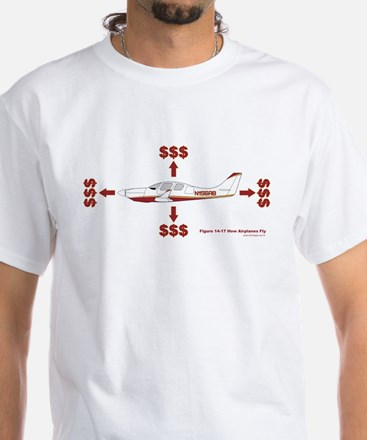 How Planes Fly White T-Shirt