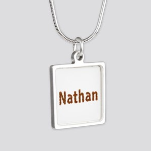 Nathan Fall Leaves Silver Square Necklace