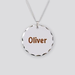 Oliver Fall Leaves Necklace Circle Charm