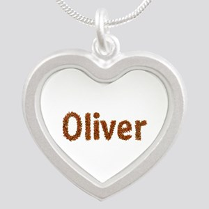 Oliver Fall Leaves Silver Heart Necklace