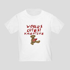 World's Cutest Valentine Toddler T-Shirt