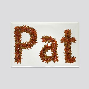 Pat Fall Leaves Rectangle Magnet