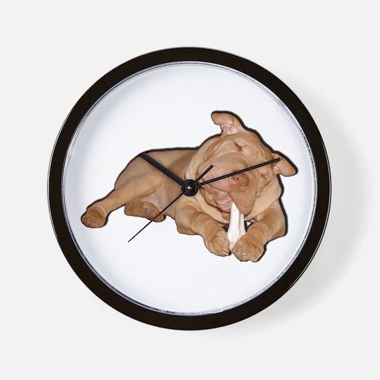 Chinese Shar Pei Dog Wall Clock