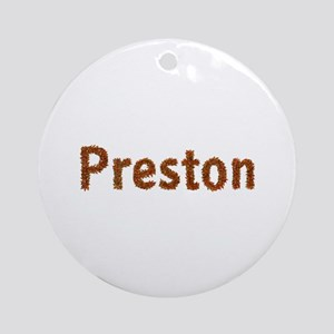 Preston Fall Leaves Round Ornament