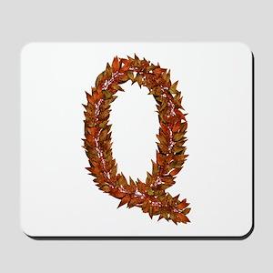 Q Fall Leaves Mousepad