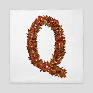 Q Fall Leaves Queen Duvet