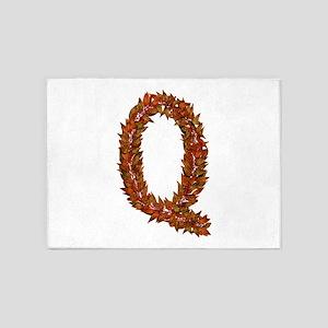 Q Fall Leaves 5'x7' Area Rug
