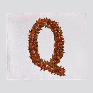 Q Fall Leaves Throw Blanket