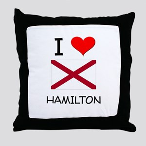 I Love Hamilton Alabama Throw Pillow