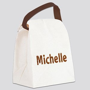 Michelle Fall Leaves Canvas Lunch Bag