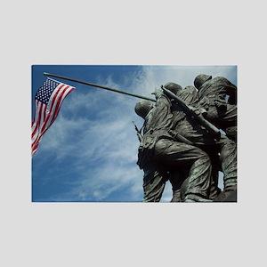 Iwo Jima's Glory Rectangle Magnet