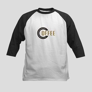 Coffee Saying Kids Baseball Jersey