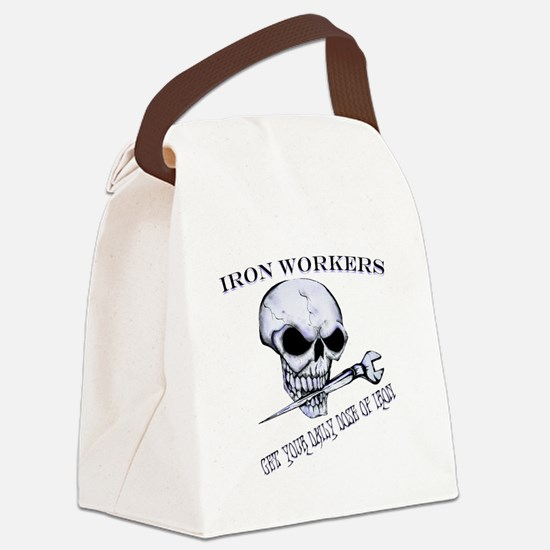 IRON SKULL Canvas Lunch Bag