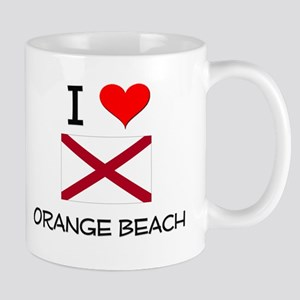 I Love Orange Beach Alabama Mugs