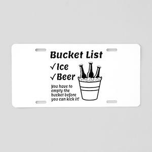 Bucket List Aluminum License Plate