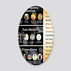 Tobacco Infographic Oval Car Magnet