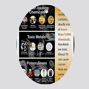 Tobacco Infographic Oval Ornament