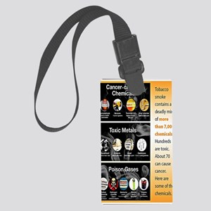 Tobacco Infographic Large Luggage Tag