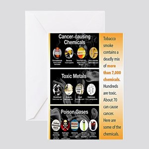 Tobacco Infographic Greeting Card