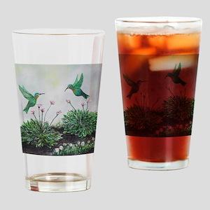 Hummingbid Hostas Home Decor Drinking Glass
