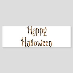Happy Halloween Plaid Sticker (Bumper)