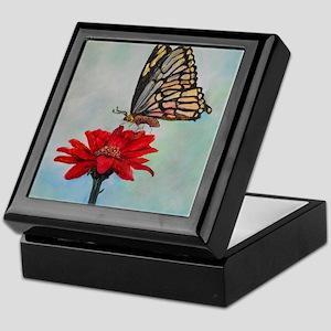 Swallowtail Butterfly Macro Painting Keepsake Box