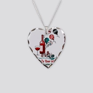 50th Birthday Necklace Heart Charm