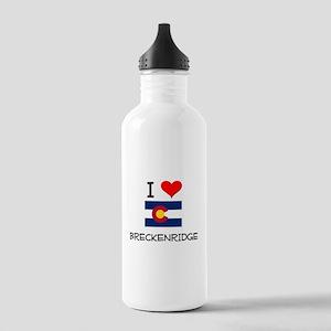 I Love Breckenridge Colorado Water Bottle