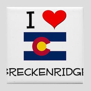 I Love Breckenridge Colorado Tile Coaster