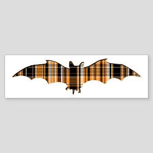 Halloween Plaid Bat Sticker (Bumper)