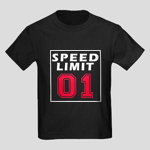 Speed Limit 01 Kids Dark T-Shirt