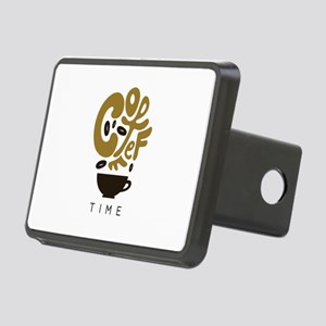 Coffee Time Rectangular Hitch Cover