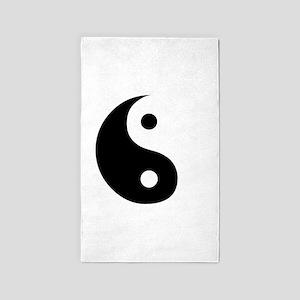 Yin Yang Symbol Ideology 3'x5' Area Rug
