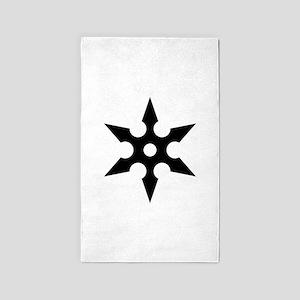 Ninja Shuriken Ideology 3'x5' Area Rug