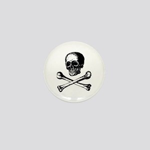 Skull and Crossbones Mini Button