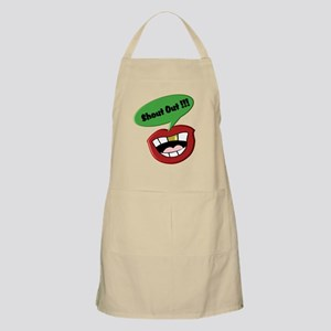 Funny Shout Out Mouth 2 Apron