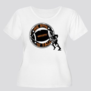 Boys of Fall Football Desgin Plus Size T-Shirt