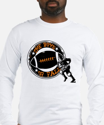 Boys of Fall Football Desgin Long Sleeve T-Shirt