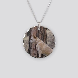 Red Heeler Ready  Necklace Circle Charm
