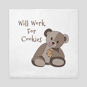 Will Work For Cookies Queen Duvet