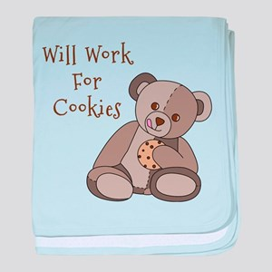 Will Work For Cookies baby blanket