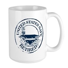 U.S. Navy Retired (Carrie 15 oz Ceramic Large Mug