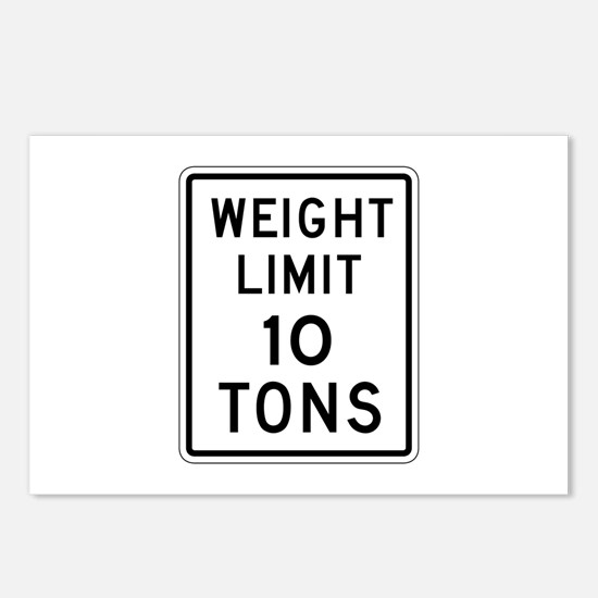 Weight Limit 10 T - USA Postcards (Package of 8)