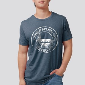 U.S. Navy Retired (Carrier) Mens Tri-blend T-Shirt